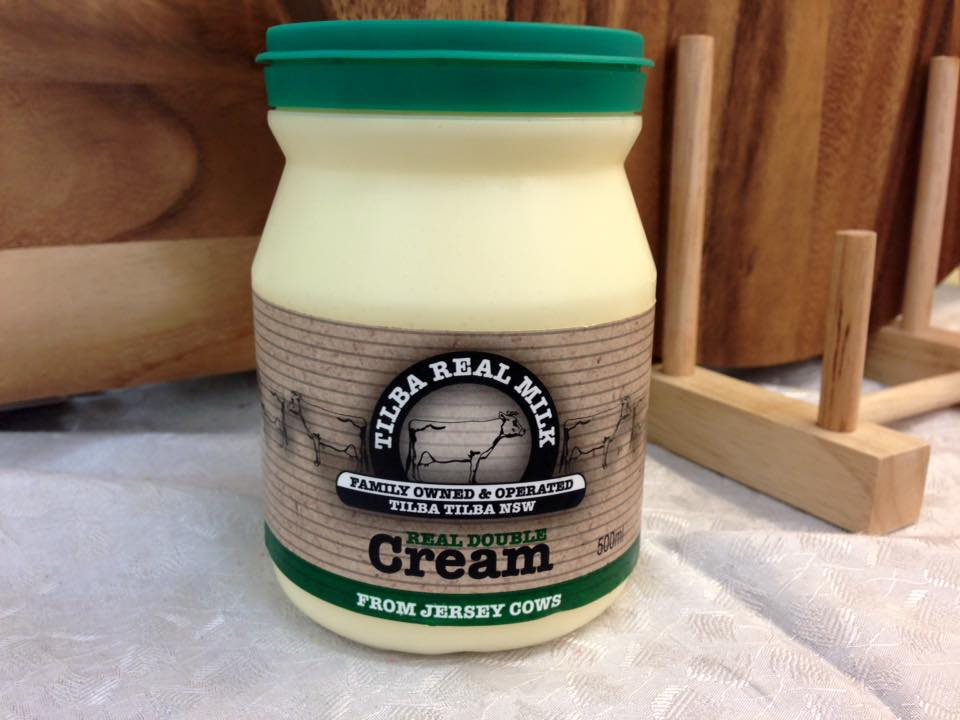 500 mill container of Tilba real double cream