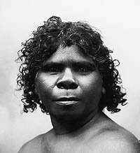 head and shoulders portrait of an aboriginal woman