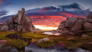 the granote tors of the portal at sunset ramshead range