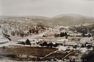 a very old photo of Cooma town, probably pre 1900
