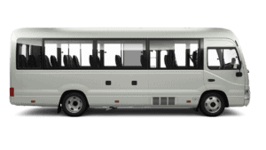 side view of 22 seater mini bus